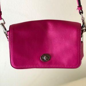 Pink coach satchel purse